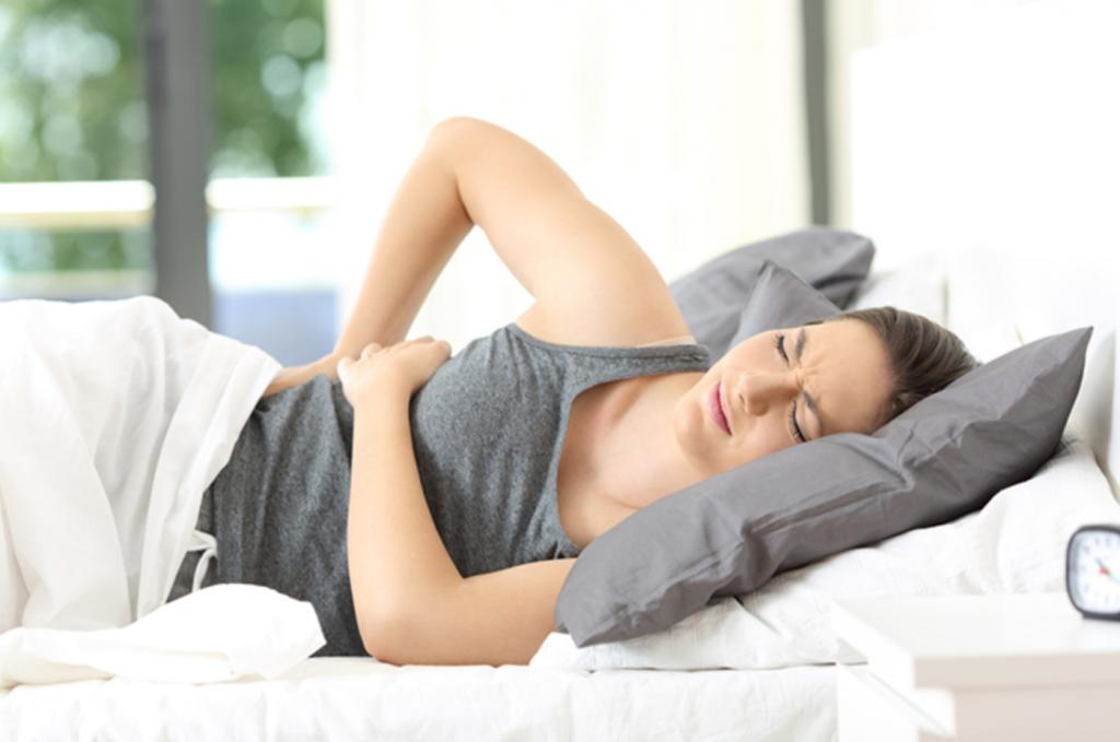 nugaros skausmas gulint